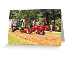 Tractor Pull in Pennsylvania Greeting Card