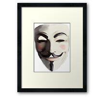 GUY HAWKES - ANONYMOUS Framed Print