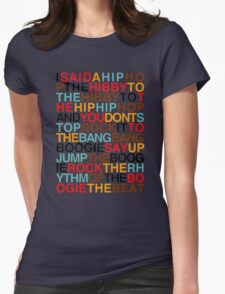 rappers delight-sugarhill gang Womens Fitted T-Shirt