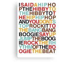 rappers delight-sugarhill gang Canvas Print