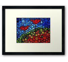 The Roots Of Love Run Deep - Colorful Mosaic Poppy Art Framed Print