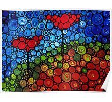 The Roots Of Love Run Deep - Colorful Mosaic Poppy Art Poster