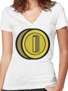 GAME COIN Women's Fitted V-Neck T-Shirt