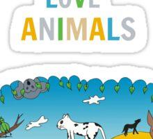 Keep calm and love animals! Sticker