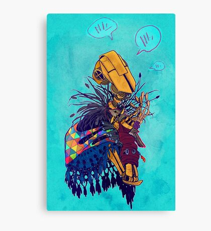 guardian of songbirds Canvas Print
