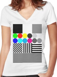 Extreme tone test pattern with colour Women's Fitted V-Neck T-Shirt