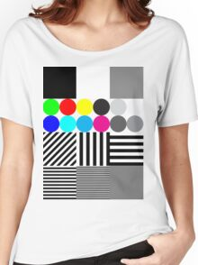 Extreme tone test pattern with colour Women's Relaxed Fit T-Shirt