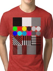 Extreme tone test pattern with colour Tri-blend T-Shirt