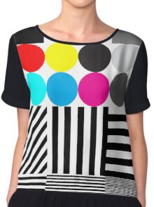 Extreme tone test pattern with colour Chiffon Top