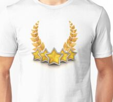 five star emblem for exclusivity and ultimate luxury Unisex T-Shirt