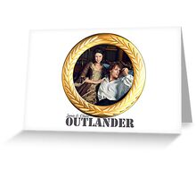 Jamie and Claire Fraser Gold frame Greeting Card