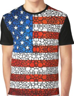 American Flag - USA Stone Rock'd Art United States Of America Graphic T-Shirt
