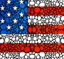 American Flag - USA Stone Rock'd Art United States Of America Sticker
