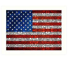 American Flag - USA Stone Rock'd Art United States Of America Art Print