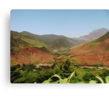 Mountain Landscape - impressionism Canvas Print