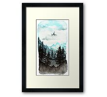 Surveying the slopes  Framed Print