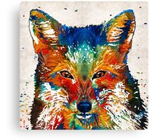 Colorful Fox Art - Foxi - By Sharon Cummings Canvas Print