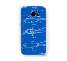 Helicopter Patent - Blueprint Samsung Galaxy Case/Skin