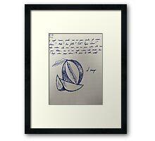 IL MANGO Framed Print