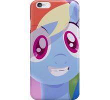 Rainbow Dash grinning iPhone Case/Skin