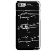 Helicopter Patent - Black iPhone Case/Skin