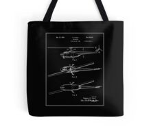 Helicopter Patent - Black Tote Bag