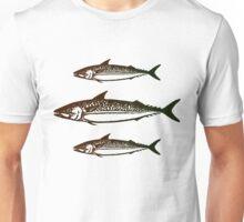 3 Fish Angler Print Unisex T-Shirt