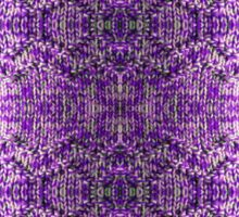 Knitted Purple Pattern Sticker