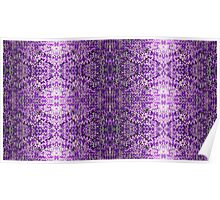 Knitted Purple Pattern Poster