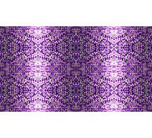 Knitted Purple Pattern Photographic Print