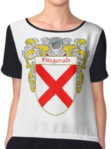 Fitzgerald Coat of Arms/Family Crest Chiffon Top