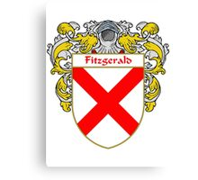 Fitzgerald Coat of Arms/Family Crest Canvas Print