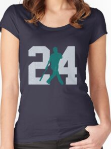 The Kid (Teal & Gray) Women's Fitted Scoop T-Shirt