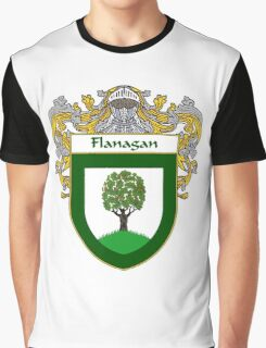 Flanagan Coat of Arms/Family Crest Graphic T-Shirt