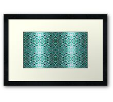 Turquiose Knitted Pattern Framed Print
