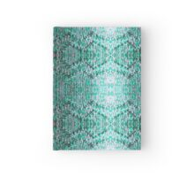 Turquiose Knitted Pattern Hardcover Journal
