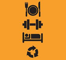 Eat, Lift, Sleep, Repeat (Pictographs) Unisex T-Shirt