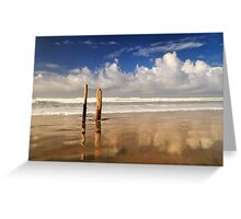 Posts On The Shore Greeting Card