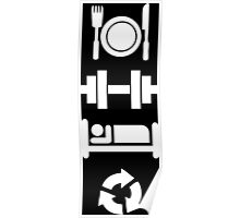 Eat, Lift, Sleep, Repeat (Pictograph) Poster
