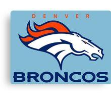 Broncos Champ Canvas Print