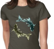 Pisces Yin Yang Balance Abstract Fish Womens Fitted T-Shirt