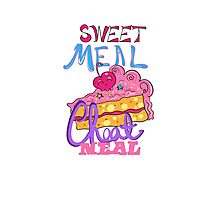 Cheat Meal Sweet Meal Photographic Print