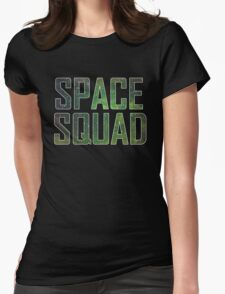 Space Squad Green Womens Fitted T-Shirt