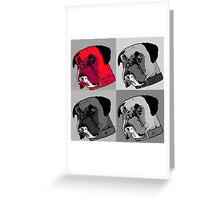 Boxer - Red Greeting Card
