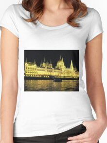 Hungarian Parliament Building  Women's Fitted Scoop T-Shirt