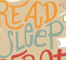 Eat, Read, Sleep, Repeat Sticker