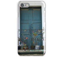 Blue Wood Door and Balcony iPhone Case/Skin