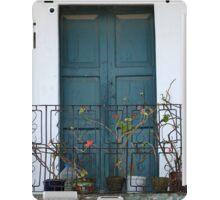 Blue Wood Door and Balcony iPad Case/Skin