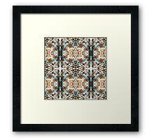 Warm Woollen Circles Framed Print