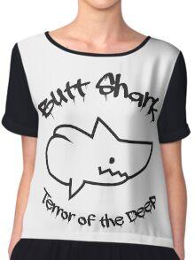 Butt Shark Terror of the Deep Chiffon Top